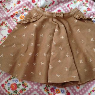 リズリサ(LIZ LISA)の値下げ!リボン刺繍ウールスカート(ひざ丈スカート)