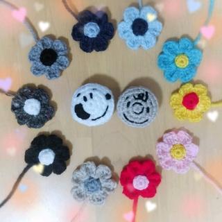 スヌーピー(SNOOPY)のお花のヘアゴム♡(ヘアアクセサリー)