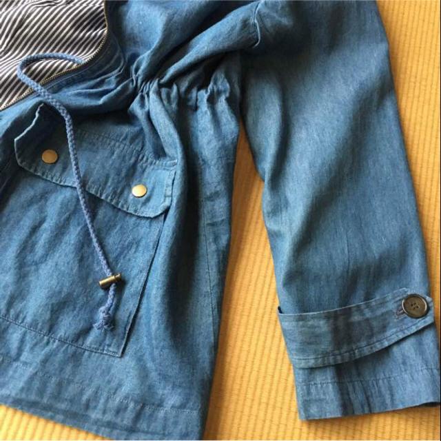3L・  大活躍❗️ デニムジャケット/大きいサイズ レディースのジャケット/アウター(Gジャン/デニムジャケット)の商品写真