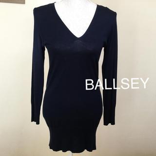 ボールジィ(Ballsey)のBALLSEY ボールジー シルク混 Vネックカットソー(カットソー(長袖/七分))