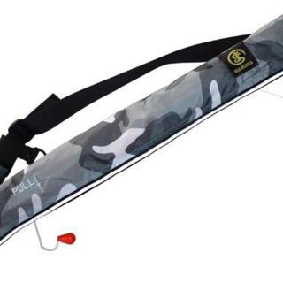ライフジャケット ベルトタイプ (手動膨張式)  新品 白迷彩(ウエア)