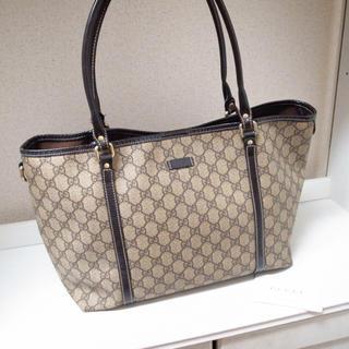 グッチ(Gucci)のまー様専用♡グッチ トートバッグ GG柄キャンバス PVC ベージュ 財布(トートバッグ)