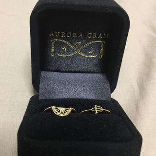 オーロラグラン(AURORA GRAN)の《AURORA GRAN》K18YG♪リングセット(リング(指輪))