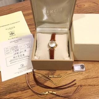 オメガ(OMEGA)の正規品 HIROB OMEGA アンティーク 腕時計 手巻き 革紐 ベルト付き(腕時計(アナログ))