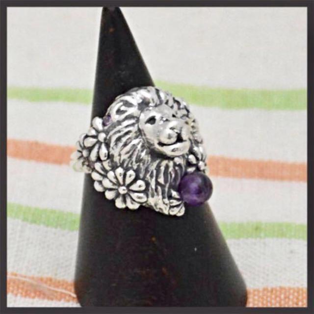 ライオン×フラワー♡シルバーリング レディースのアクセサリー(リング(指輪))の商品写真