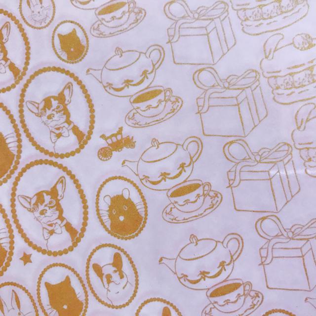 ポーセラーツ 転写紙 メタリックゴールド 2枚セット ハンドメイドの素材/材料(その他)の商品写真