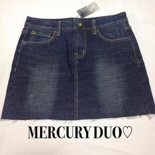 マーキュリーデュオ(MERCURYDUO)のMERCURY DUO♡デニムスカート(ミニスカート)