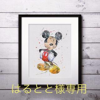 ディズニー(Disney)のはるとと様専用!ミッキーとニモ&ドリー 水墨画風ポスター(ポスター)