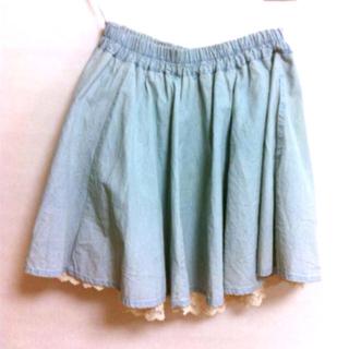 ハニーズ(HONEYS)の水色 * レーススカート(ひざ丈スカート)