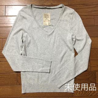 ムジルシリョウヒン(MUJI (無印良品))の専用〈美品〉無印 Vネックシャツ M グレー(ニット/セーター)