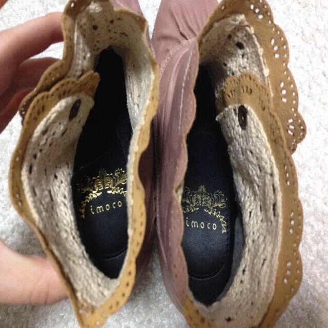 ピンクのショートブーツ※値下げしました レディースの靴/シューズ(ブーツ)の商品写真