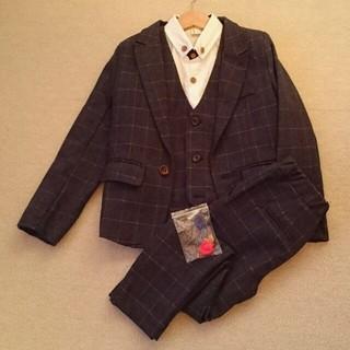 男の子120cm スーツ四点セット おしゃれ(ドレス/フォーマル)