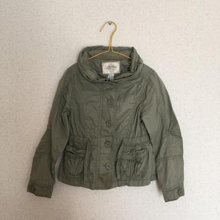 ザラキッズ(ZARA KIDS)のザラキッズジャンパースプリングコートジャケットモスグリーン110120cm(ジャケット/上着)