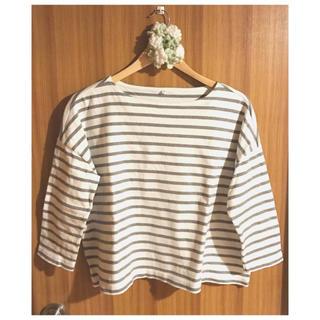 ムジルシリョウヒン(MUJI (無印良品))の無印良品 ボーダーTシャツ(カットソー(長袖/七分))