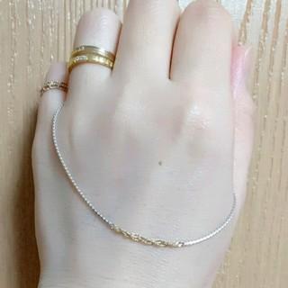 オーロラグラン(AURORA GRAN)のオーロラグラン K10+シルバー ツイッグネックレス(ネックレス)