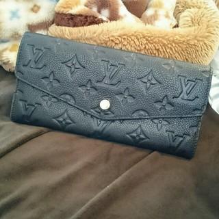ルイヴィトン(LOUIS VUITTON)の美品 ルイヴィトン アンプラント キュリーズ 長財布  本物 正規品(財布)