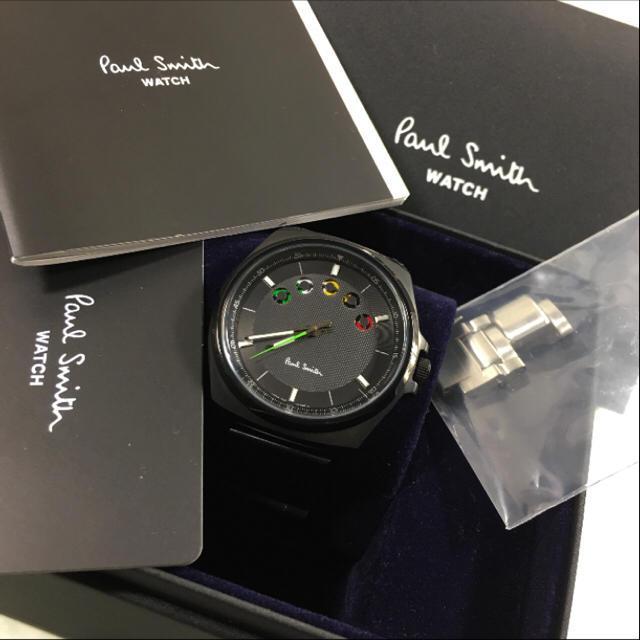 new arrivals 3b47a d31c5 未使用☺︎Paul Smith 時計 ファイブアイズ オリンピック 黒 ロンドン | フリマアプリ ラクマ