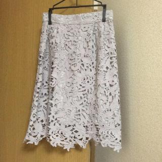 ミスティウーマン(mysty woman)のレースタイトスカート(ひざ丈スカート)