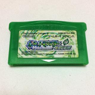 ニンテンドウ(任天堂)の任天堂 ゲームボーイアドバンス ポケットモンスターリーフグリーン 緑 ポケモン(携帯用ゲームソフト)
