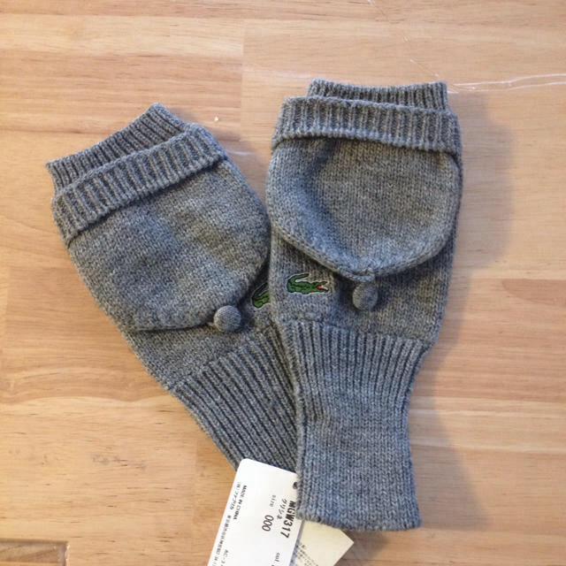 LACOSTE(ラコステ)のラコステグレー手袋とマフラー レディースのファッション小物(マフラー/ショール)の商品写真