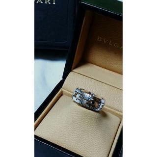 online store e4ca5 fa80a 正規美品 ブルガリ パレンテシ リング 13号 K18WG 53 指輪 男女兼用