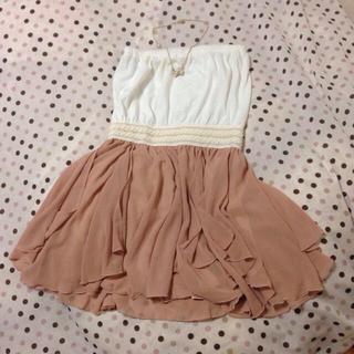 セシルマクビー(CECIL McBEE)のベアトップドレス♡(ミニワンピース)
