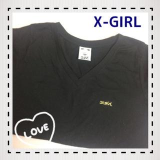 エックスガール(X-girl)のVネックTシャツ/送料無料(Tシャツ(半袖/袖なし))