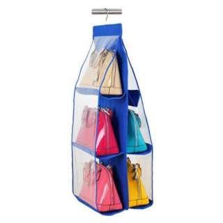 【ブルー】吊り下げ 収納 バッグ バック クローゼット 押入れ収納 便利 3段(キッチン収納)
