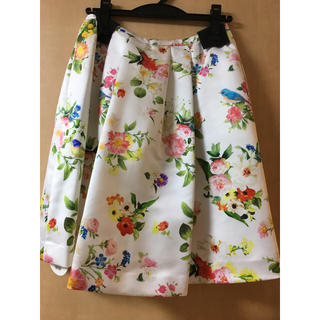 チェスティ(Chesty)の【新品】小鳥さんスカート 0(ひざ丈スカート)