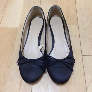 ザラ(ZARA)のZARA☆ヒールスタッズバレエシューズ(ローファー/革靴)