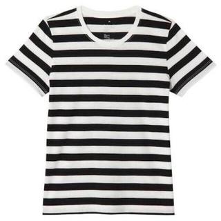 ムジルシリョウヒン(MUJI (無印良品))の毎シーズン完売新品未使用無印良品オーガニックコットンクルーネックTシャツボーダー(Tシャツ(半袖/袖なし))