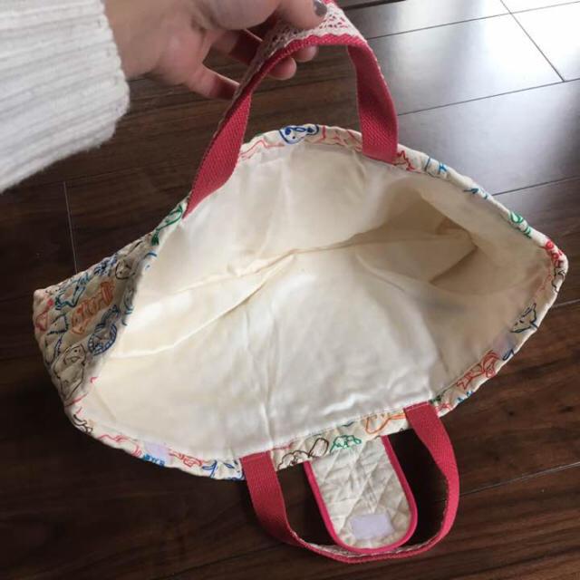 ハンドメイド ピアニカバッグ  ナメコ栽培キット柄  ピンク ハンドメイドのキッズ/ベビー(バッグ/レッスンバッグ)の商品写真