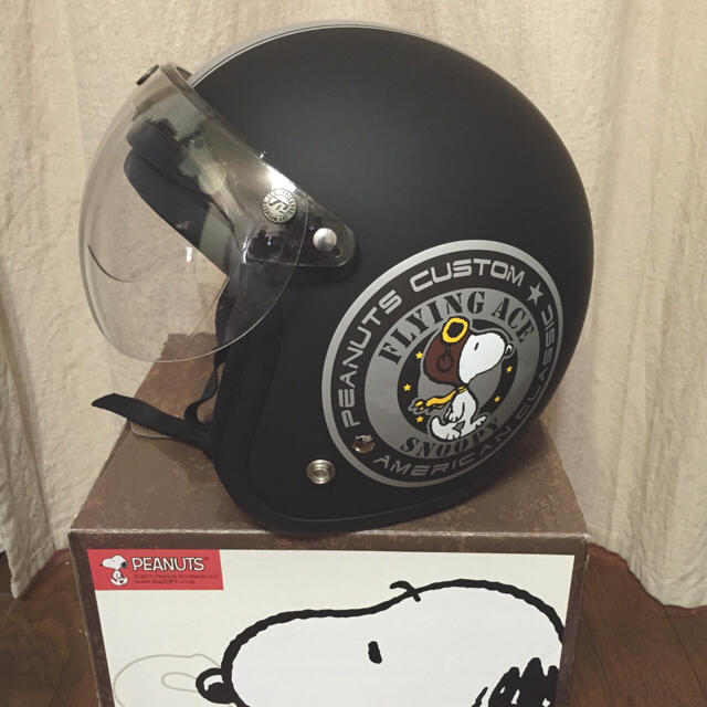Shoei Gt Air >> スヌーピー ジェットヘルメット ハーフシールド付き マットブラックの通販 by maru's shop|ラクマ