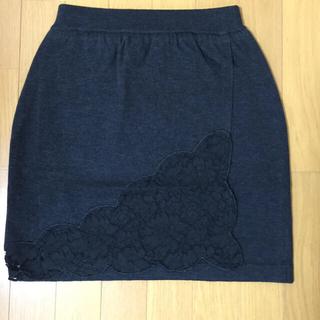 ニーナミュウ(Nina mew)のレースラップニットスカート♪♪♪(ひざ丈スカート)