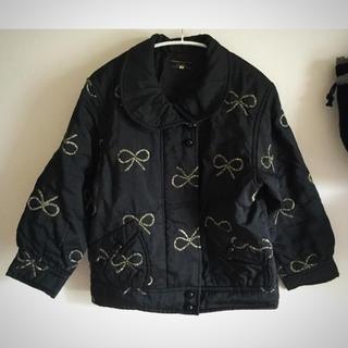 レリアン(leilian)のりぼん刺繍の丸えりジャケット(ナイロンジャケット)