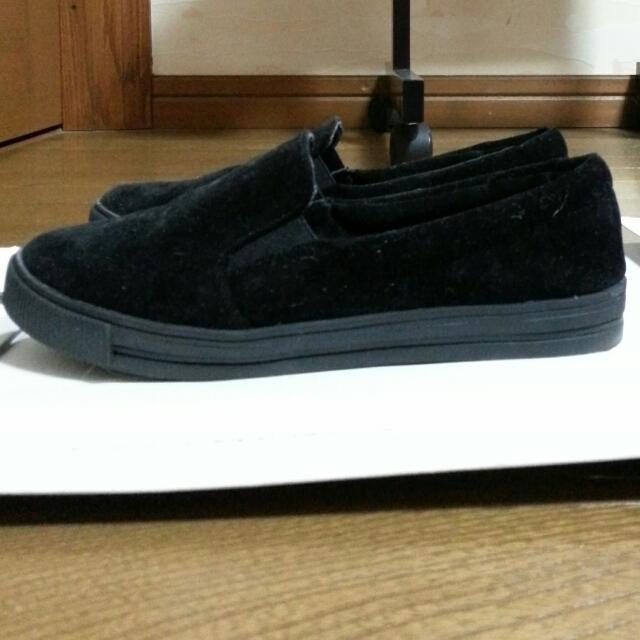 titivate 黒スリッポン ♪ レディースの靴/シューズ(スニーカー)の商品写真
