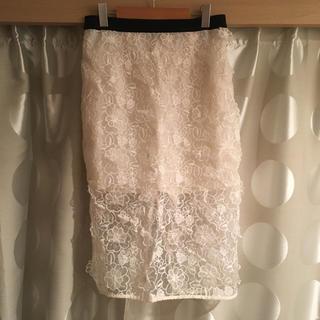 ロキエ(Lochie)のLochie 総レースタイトスカート(ひざ丈スカート)