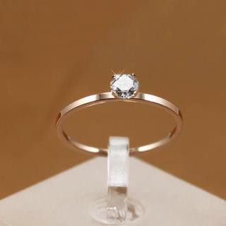 高品質18KRGP可愛い指輪リング(リング(指輪))