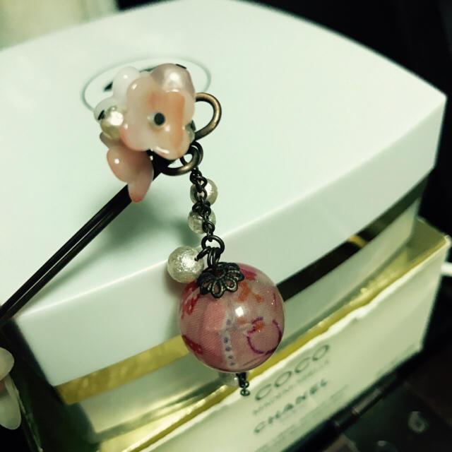 かんざしピンク レディースの水着/浴衣(和装小物)の商品写真