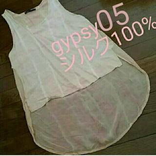 ジプシー05(Gypsy 05)のGypsy05 日本未発売 海外限定 アメリカ製 シルク製品 シフォントップス(カットソー(半袖/袖なし))