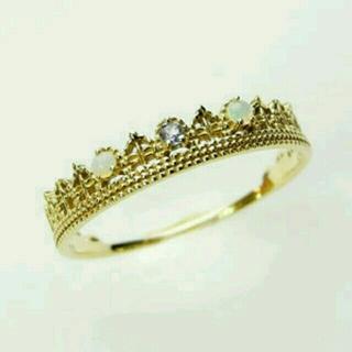 miroir ミロア K10 オパール×タンザナイトクラウンリング(リング(指輪))