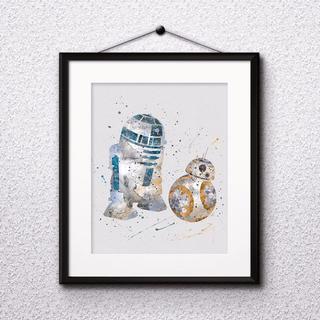 ディズニー(Disney)のR2D2&BB8 │ STAR WARS │ ディズニー │ アートポスター(パネル)