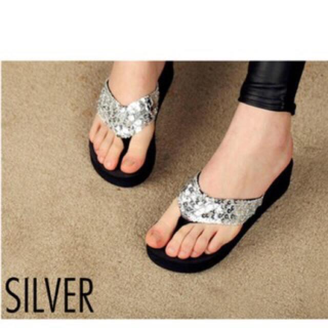 ☆スパンコール☆サンダル☆ レディースの靴/シューズ(サンダル)の商品写真