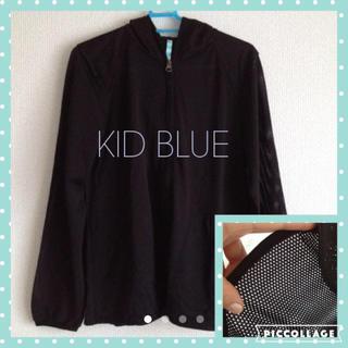【KID BLUE】★メッシュ生地パーカー★ スポーツ/アウトドアのトレーニング/エクササイズ(ウォーキング)の商品写真