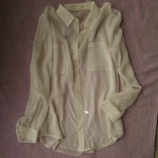 ジーユー(GU)の今週で削除となります。シースルーシャツ  Lサイズ(シャツ/ブラウス(長袖/七分))