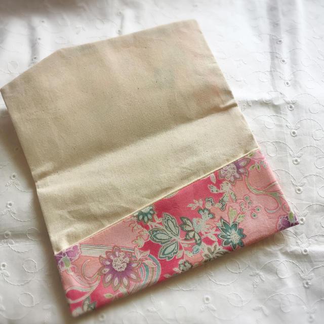 和風ピンクの花柄袱紗 ハンドメイドのファッション小物(その他)の商品写真