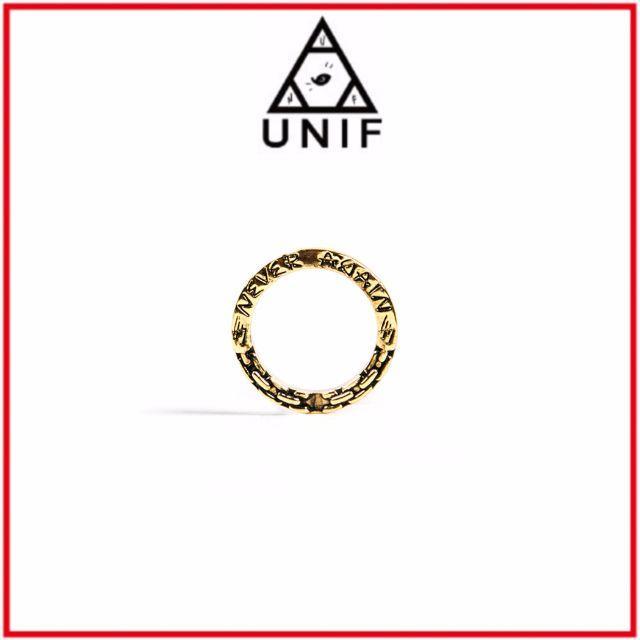 UNIF(ユニフ)のUNIF♡NEVER AGAIN RING GOLD メンズのアクセサリー(リング(指輪))の商品写真