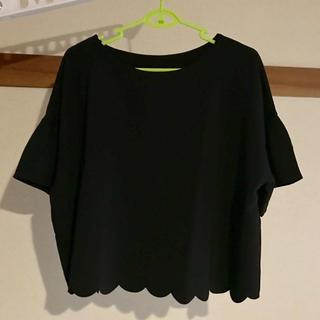 ジーユー(GU)のスカラップブラウス(シャツ/ブラウス(半袖/袖なし))