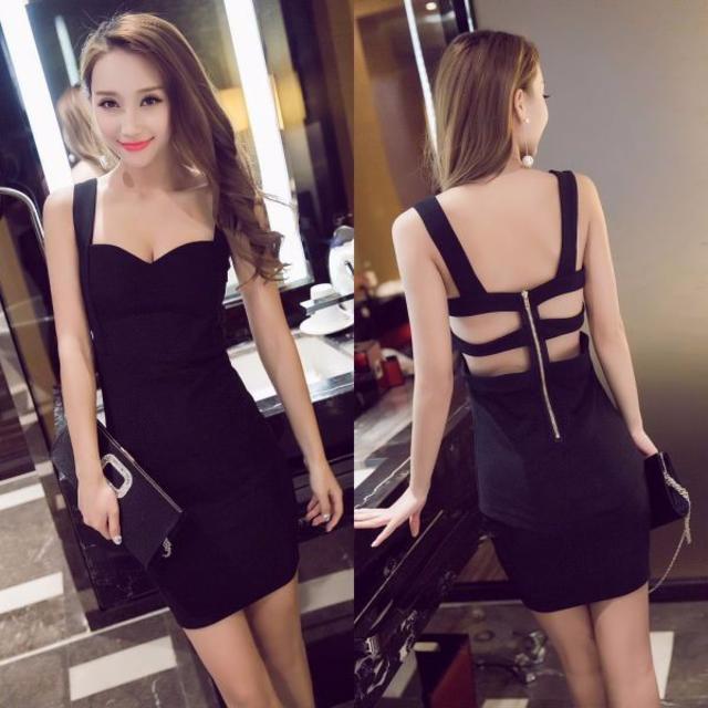 キャバドレス 22B 黒 ボディコン ミニ ドレス キャバ嬢 お水 ミニワンピ  レディースのフォーマル/ドレス(ナイトドレス)の商品写真