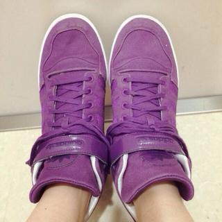アディダス(adidas)のadidas♡パープルスニーカー(スニーカー)